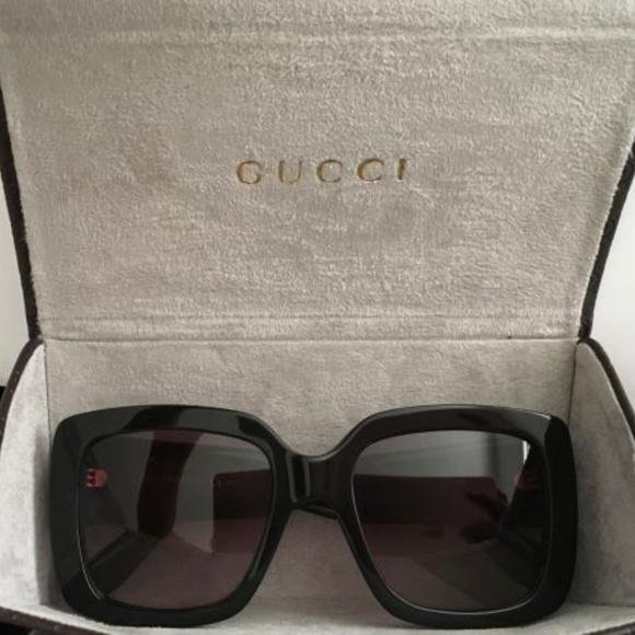 2fbafb47a6b Gucci GG 3814S Square Black Frame